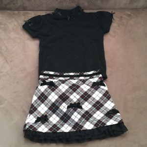 Baby Girls Children's Place top and skirt set
